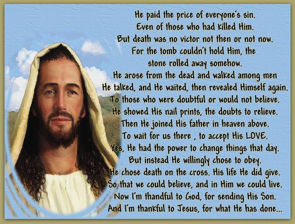 He Arose From The Dead.....