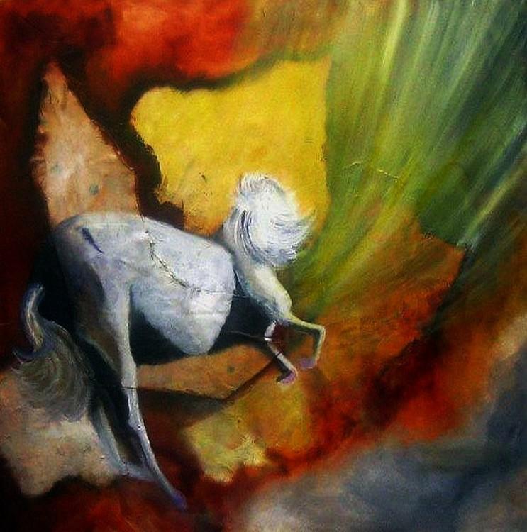 Sio homenaje a Scorza öleo sobre lienzo 100x100cm collage sobre lienzo 2007 Serie matices peruanos W