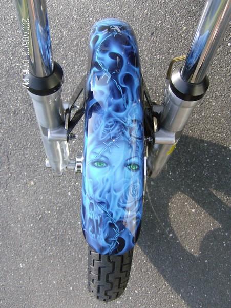 kandy Blue Skulls -front fender