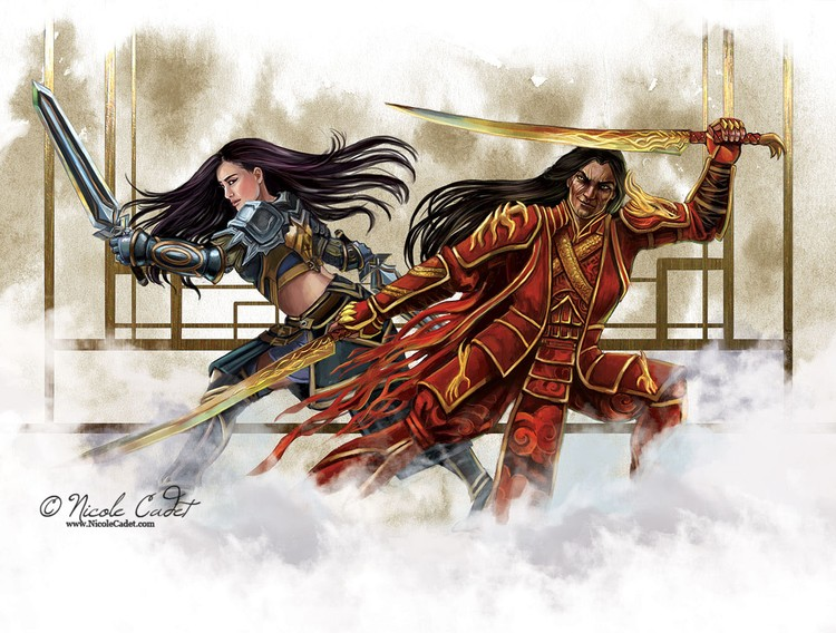 GW2 fan art - Shiro Tagachi and Lark