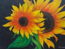 Scene Of Sunflowers