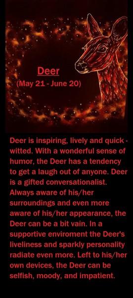 Native American Zodiac Sign, (Deer)