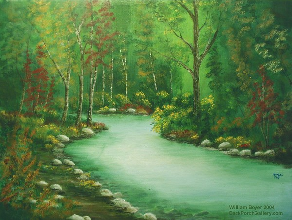 2004-52 Paint Creek in Early Autumn22x28canvas