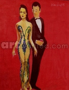 Woman in Transparent Dress with Man