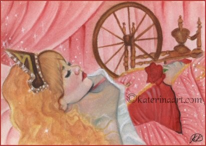 Sleeping Beauty - ACEO