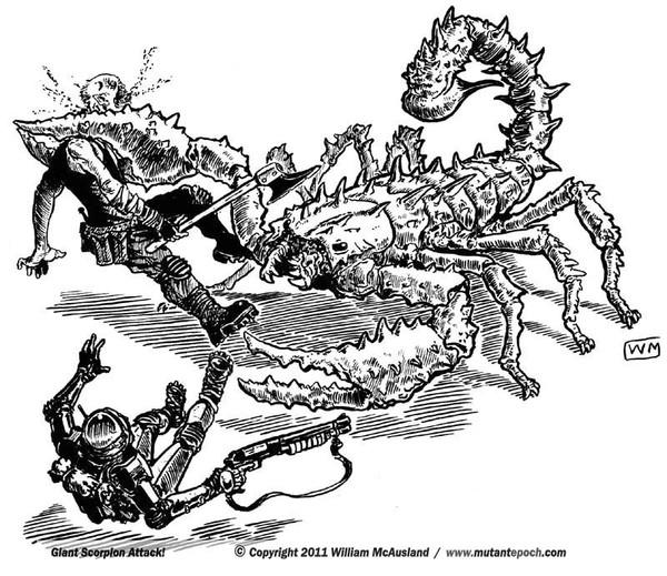 Giant Mutant Scorpion attack