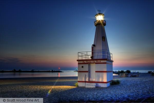 New Buffalo City Beach Lighthouse