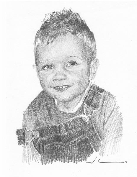 toddler pencil portrait