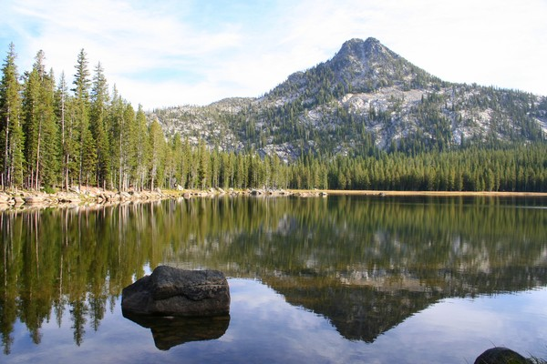 Elkhorn Mountain Reflected in Lake Anthony #2