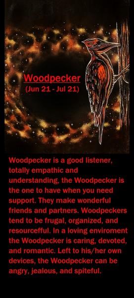 Native American Zodiac Sign, (Woodpecker)