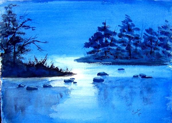 Scene in Blue