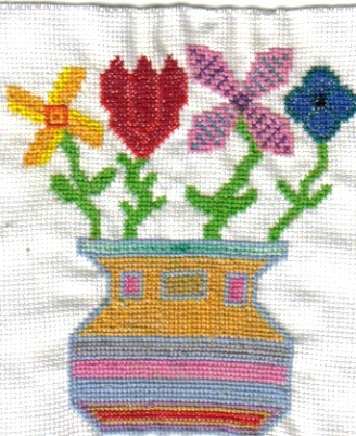Cross-stitched Flowers