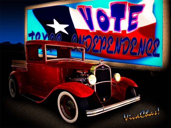 32 Ford Pickup Vote Texas Independence