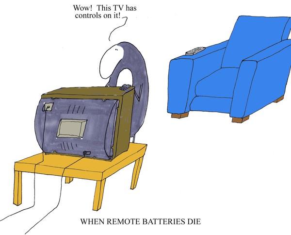 when remote batteries die