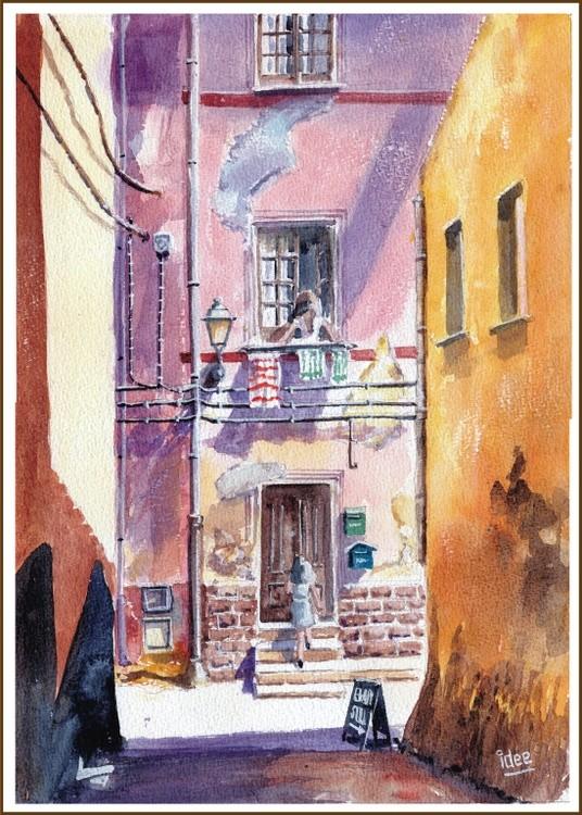 Colorful Italian alleyway