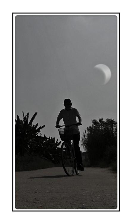 Moon Bicyclist