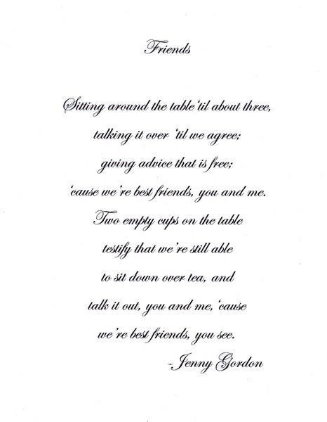 FRIENDS,   Poem