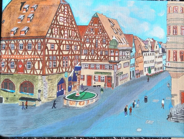 Fairy tail town of Rothenburg, Germany