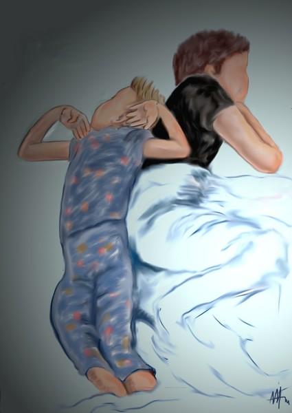 SLEEPING TOGETHER.