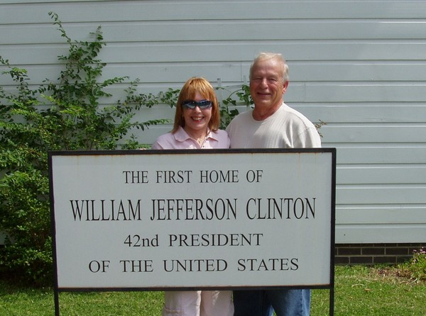 Yours Truly at Pres. Clinton's 1st home, Hope, AR