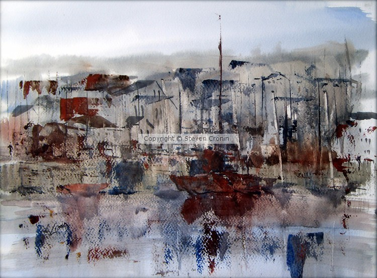 Penzance Harbour, Cornwall Watercolour Painting
