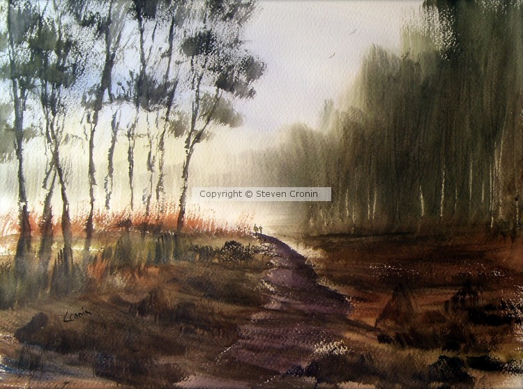 Cannock Chase Watercolour Painting