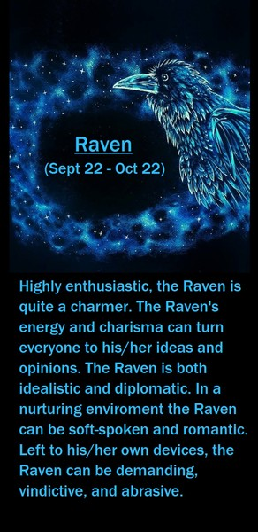 Native American Zodiac Sign, (Raven)