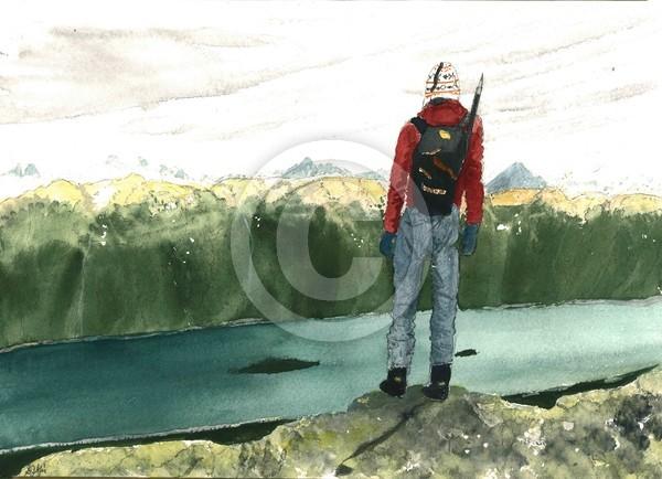 Climber Facing Juneau