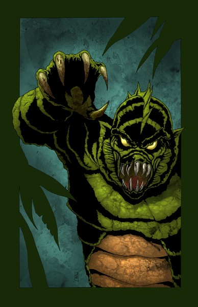 Creature from the black lagoon - Colored