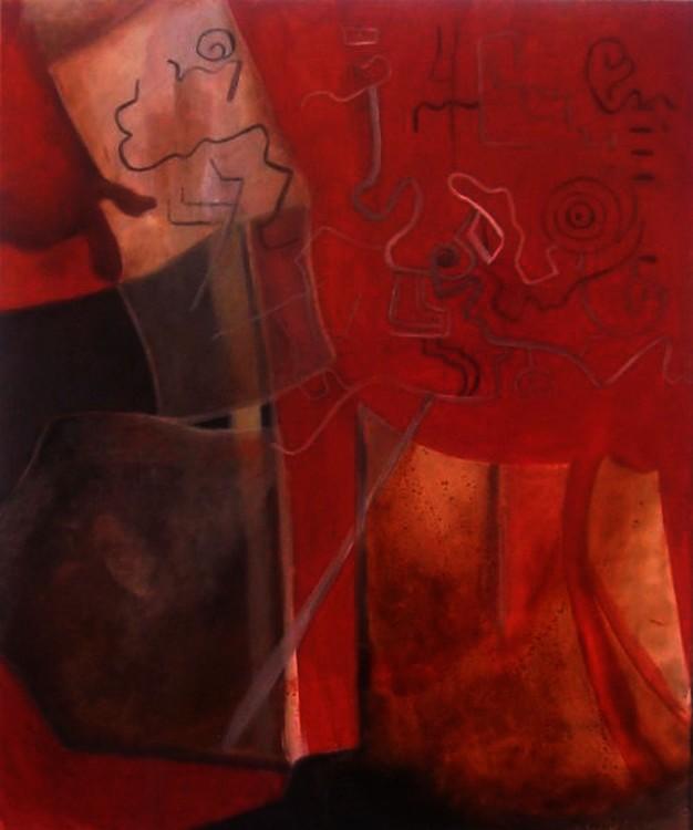 puscharo öleo sobre lienzo 80x70cm Serie matices peruanos 2007