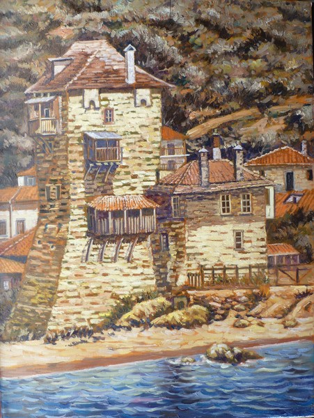 The Tower of Ouranoupolis Mount Athos