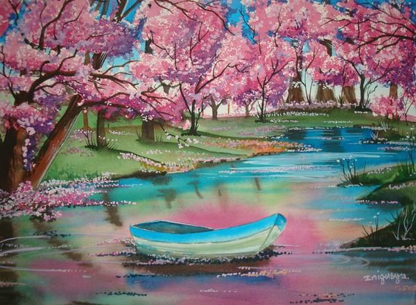 Lagoon Blossom on my Canoe