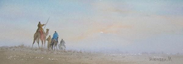 moning in desert
