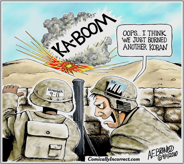 Remember 9/11 Support our troops (Cartoon)