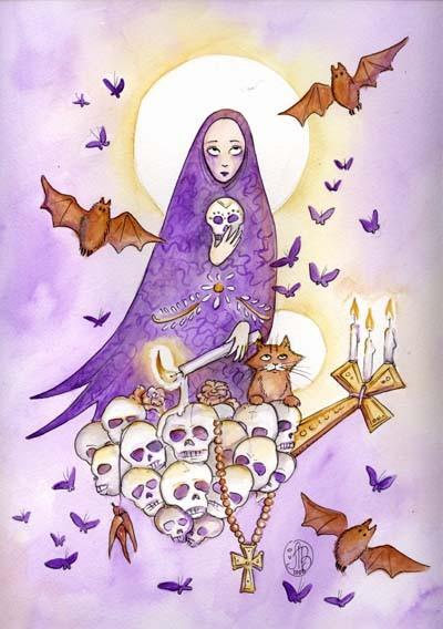 Dia de Los Muertos or Cat Madonna