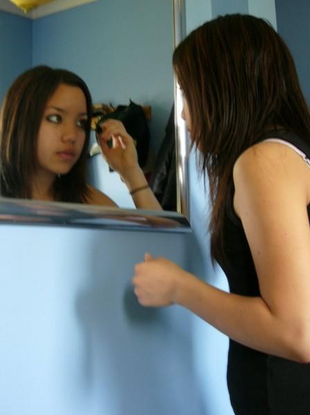 Chai Doing Her Make-up!