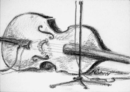 Jon Henry's Bass ACEO ATC