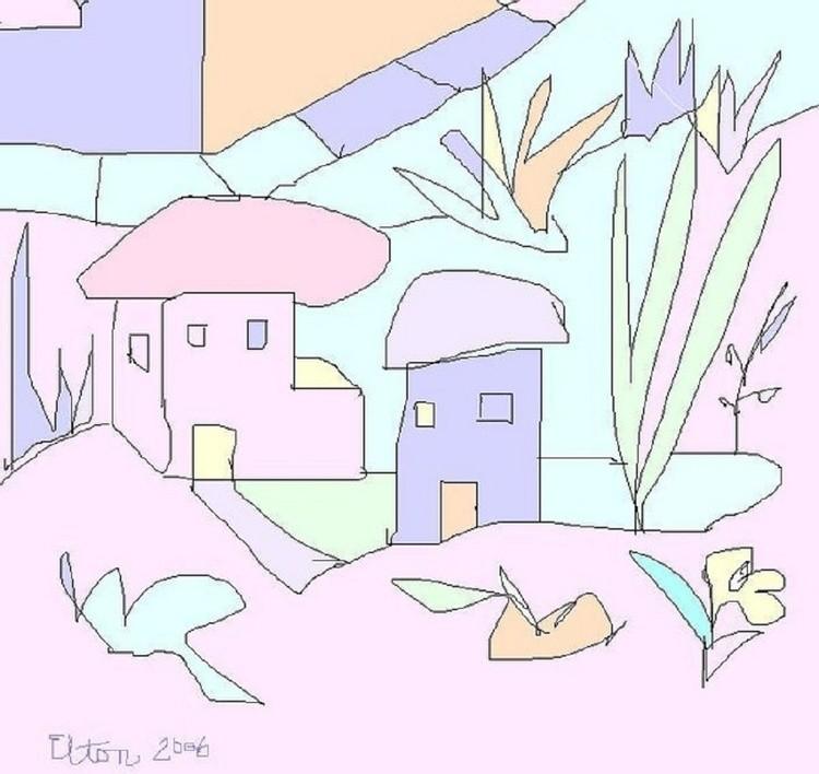 LITTLE KINGDOMS---ANOTHER REALM..(C) 2006.ELTON HOUCK....ELTON'S ART TIME VAULT--little wonders art