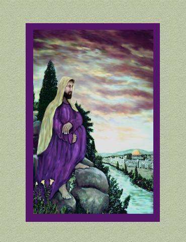 Jesus- A Man of Sorrows [ with faux matte]