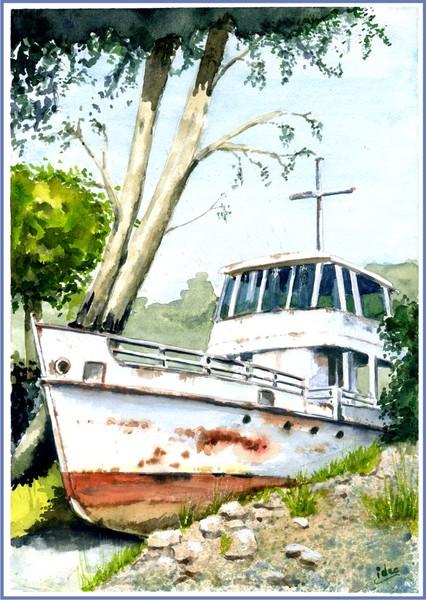 Wreck on the Garda lake