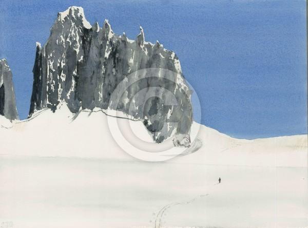 Skiier Juneau Icefield Alaska