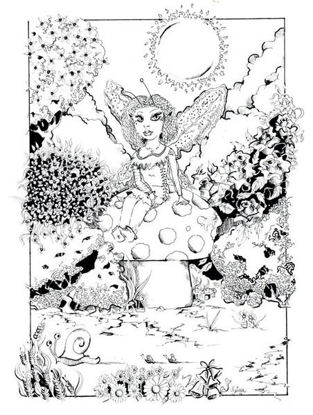 Fairy on Mushroom 2