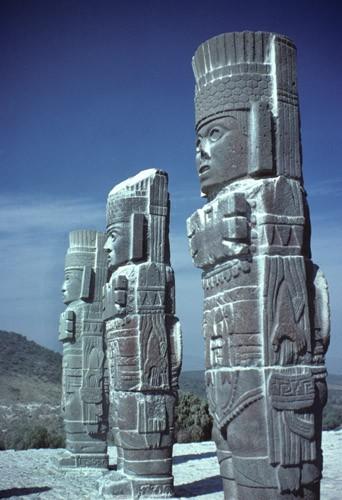 Fourteen foot Toltec Monoliths, Tula