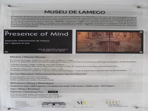 Exhibition in Lamego Museum