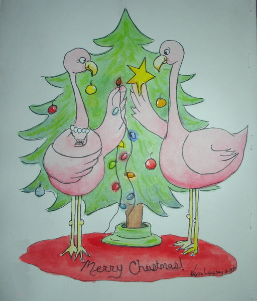 Flamingo Christmas