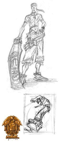 mild skater sketchings