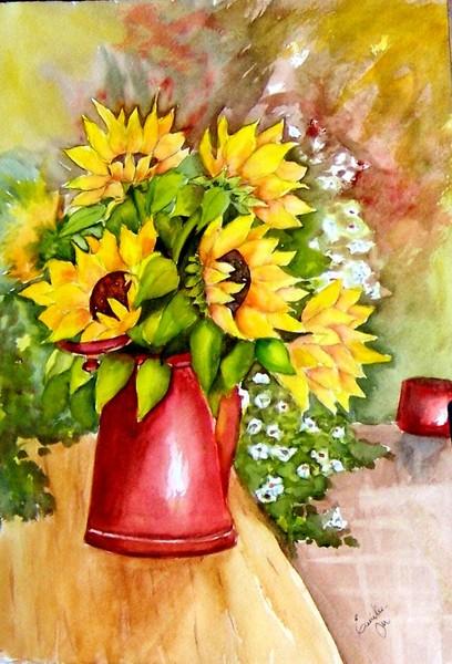 Sunflowers in copper