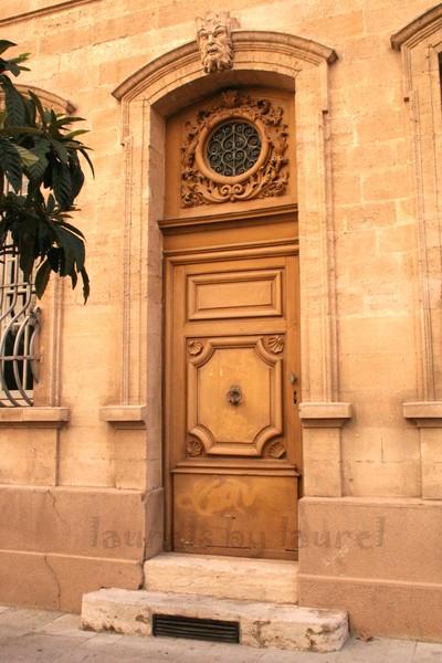 Beautiful Wooden Door in Avignon
