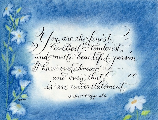 you are the finest F. Scott Fitzgerald quote