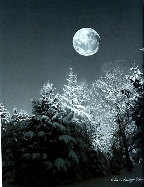 Full Moon With Snow